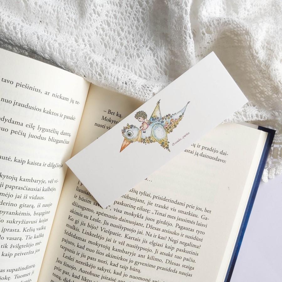 """Skirtukas knygai """"Paukštis"""""""
